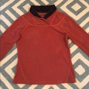 Prana burnt orange fleece pullover